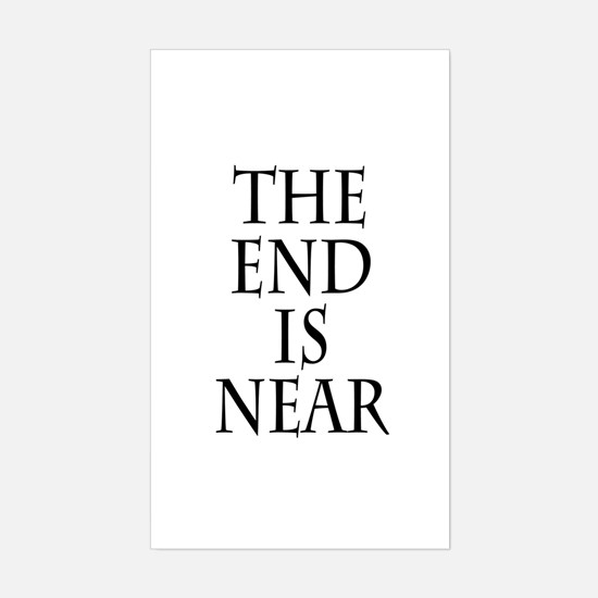 The End Is Near Rectangle Decal