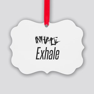 Inhale Exhale Picture Ornament