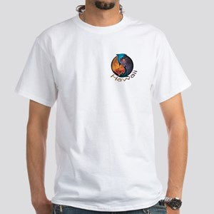 Hawaii Dolphin Yin Yang White T-Shirt