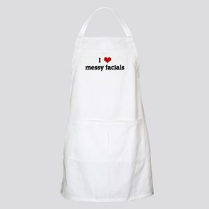 I Love messy facials BBQ Apron