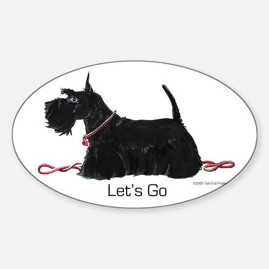 Scottie Let's Go! Sticker (Oval)