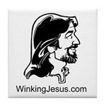 Winking Jesus Tile Coaster