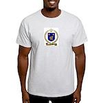 NADEAU Family Crest Ash Grey T-Shirt
