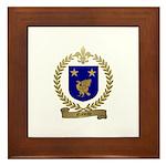 NADEAU Family Crest Framed Tile