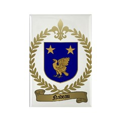 NADEAU Family Crest Rectangle Magnet (100 pack)