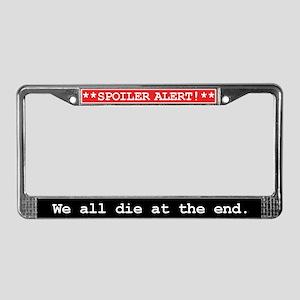 Spoiler Alert Word Nerd License Plate Frame