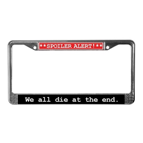 Spoiler Alert Word Nerd License Plate Frame