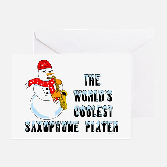 Coolest Saxophone Greeting Card