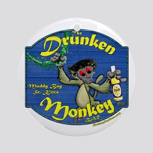 Drunken Monkey Ornament (Round)