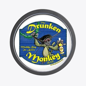 Drunken Monkey Wall Clock