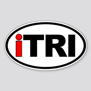 iTRI Ironman Triathlon Oval Euro Sticker
