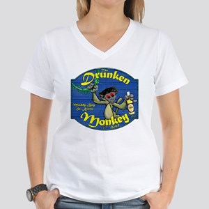 Drunken Monkey Women's V-Neck T-Shirt