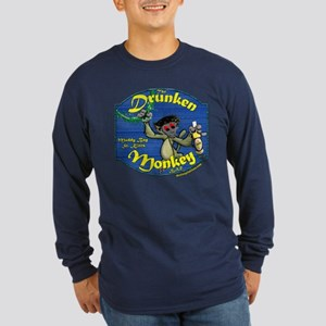 Drunken Monkey Long Sleeve Dark T-Shirt