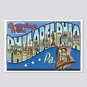 Philadelphia PA Postcards (Package of 8)