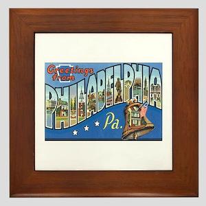 Philadelphia PA Framed Tile