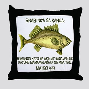 Matthew 4:19 Tagalog Throw Pillow