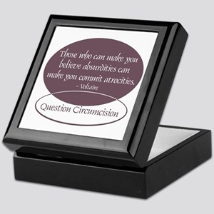 Voltaire Quote Keepsake Box