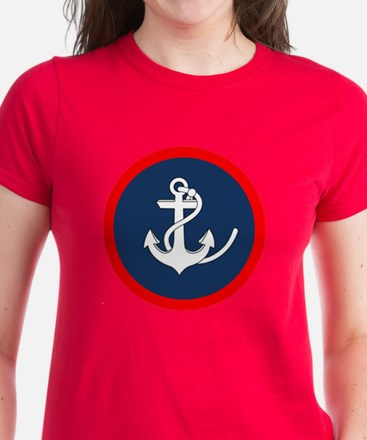 ANCHOR ON BLUE AND RED CIRCLE T-Shirt