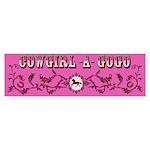 Cowgirl -A- GoGo Ornate Bumper Sticker (10 pk)