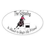 Barrel- Schooling Oval Sticker (10 pk)
