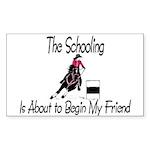 Barrel- Schooling Rectangle Sticker 10 pk)