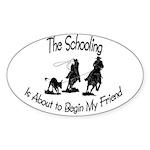 Roping- Schooling Oval Sticker (10 pk)