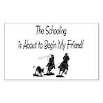 Roping- Schooling Rectangle Sticker 50 pk)