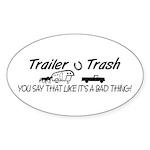 TRAILER AND BUMPER STICKERS Oval Sticker (10 pk)