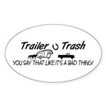 TRAILER AND BUMPER STICKERS Oval Sticker (50 pk)