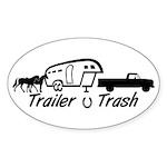 Barrel Racer Oval Sticker (10 pk)