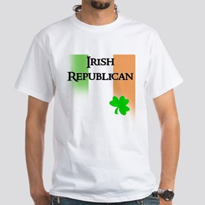 Irish Republican with Faded T White T-Shirt