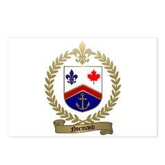 NORMAND Family Crest Postcards (Package of 8)