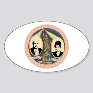 McCain Retro Jugate Oval Sticker