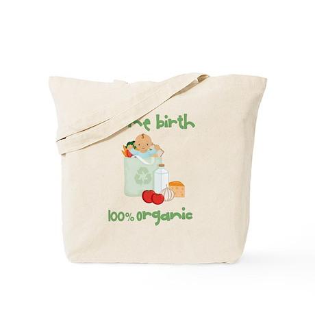 Home Birth 100% Organic - Dark Baby Tote Bag
