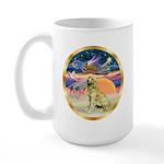 XmasStar/Golden #1 Large Mug