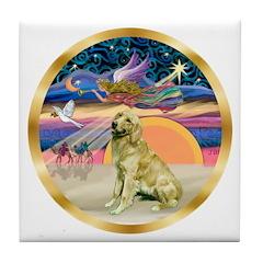 XmasStar/Golden #1 Tile Coaster