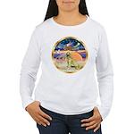 XmasStar/Golden #1 Women's Long Sleeve T-Shirt