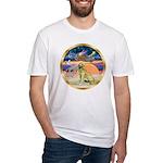 XmasStar/Golden #1 Fitted T-Shirt