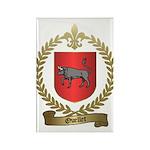 OUELLET Family Crest Rectangle Magnet (100 pack)