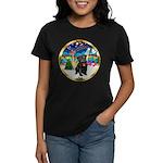 Xmas Musc 3/Cavalier Women's Dark T-Shirt