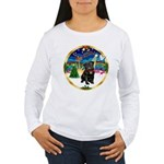 Xmas Musc 3/Cavalier Women's Long Sleeve T-Shirt