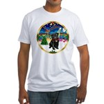 Xmas Musc 3/Cavalier Fitted T-Shirt