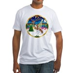 XmasMusic 3/Cavalier #F1 Fitted T-Shirt