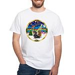 XmasMusic 3/2 Dachshunds White T-Shirt