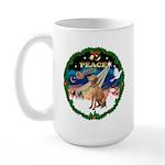XmasSunrise/Vizsla Large Mug