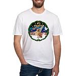 XmasSunrise/Vizsla Fitted T-Shirt