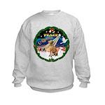 XmasSunrise/Vizsla Kids Sweatshirt