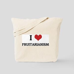 I Love Fruitarianism Tote Bag