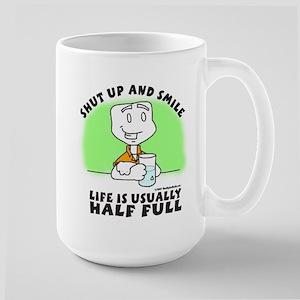 Life Half Full SUAS Large Mug