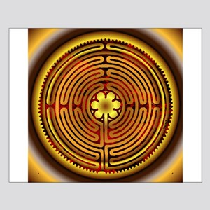 Chartres Labyrinth Fire Small Poster